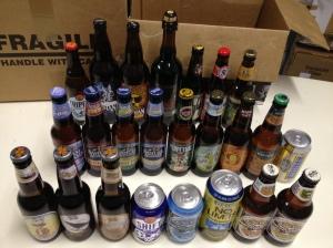 1/4 der Biere, die ich aus Mulhouse zurückgebracht habe (hier die aus den USA)